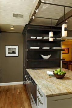Superb Microwave Drawer method Dc Metro Transitional Kitchen Image Ideas with cherry cabinetry dark toekick painted cabinetry rustic beams Sculpted backsplash updated track lighting