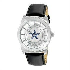 Dallas Cowboys Vintage Retro Leather Band Watch