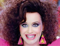 Katy Perry makes color bands on her braces look so cool!