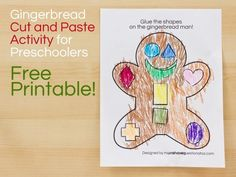 free cut and paste gingerbread man printable