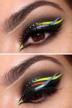 Original Eye Make-up this is super cool - be different. Makeup Art, Makeup Tips, Hair Makeup, Makeup Geek, Crazy Makeup, Makeup Looks, Make Up Inspiration, Beauty Make-up, Creative Eye Makeup