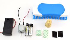 materials to build a brushbot