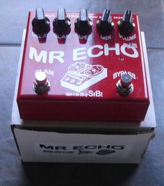 Extremely Rare Original 90s SIB Mr Echo Plus Boutique Delay Guitar Effects Pedal w/ Original Box