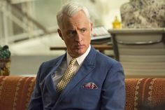 """John Slattery in AMC's """"Mad Men"""" """"We can have the connection that we're hungry for."""" In the final episode of season of Mad Men, (with season John Slattery, Mad Men Final Season, Mad Men Characters, Rocket Ride, Don Draper, Mad Men Fashion, Men's Fashion, Fashion Gallery, Best Tv Shows"""