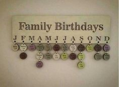 Great idea for those with big families. Also neat to do for anniversaries as well