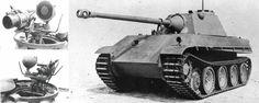 """""""Vampir"""" night vision scope mounted on Panther tank."""