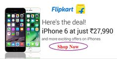 Flipkart's Offers :--->> iPhone 6 at Just Rs. 27990.  #flipkart #iphone6 #onlineshopping #yoursearch