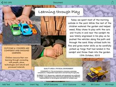 Family Day Care - Observations, Planning and Car Learning, Play Based Learning, Learning Through Play, Learning Centers, Childcare Activities, Nursery Activities, Observation Examples, Learning Stories Examples, Emergent Curriculum