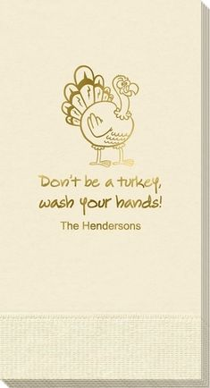 Cartoon Style Turkey Guest Towels
