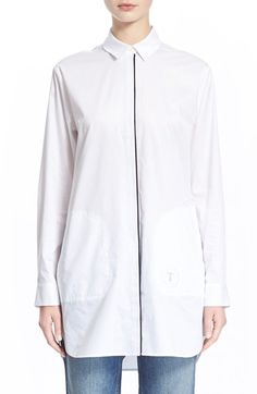 T by Alexander Wang Logo Poplin Shirtdress (Nordstrom Exclusive) available at #Nordstrom