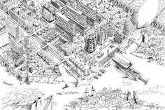 guillaume ramillien architecture urbanisme illustration home