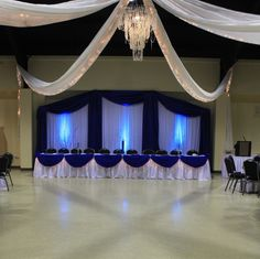 Different colors and I'm still not sure about the head table being the whole bridal party but the background is cute.