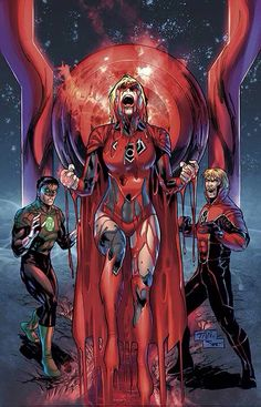 Supergirl is a red lantern cool