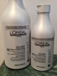 L'Oreal Professionnel SILVER Shampoo for grey or white hair! Anti-yellowing action brightens your natural color!