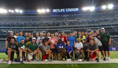Team photo after a #Thuzio event at #MetLifeStadium. Click the pin on how to reserve #NFL players for your next event.