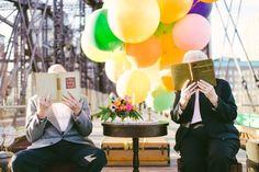 Mariage original sur le theme La Haut - couple de petits vieux - Cambria Grace - LaFianceeduPanda.com