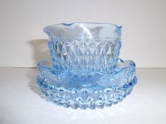 Beautiful Aqua Blue Mint dish With Bowl by Gem2thei on Etsy