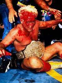 Ric Flair. Always one of the best bleeders.