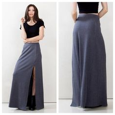 Sugarlips maxi skirt with side slit available at shoppinkconfetti.com