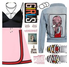 """""""Girls Just Want to Have Fun"""" by beautifully-eclectic ❤ liked on Polyvore featuring T By Alexander Wang, Gucci, BP., Miss Selfridge, Pluie, Accessorize, ban.do, Polaroid, denim and fun"""