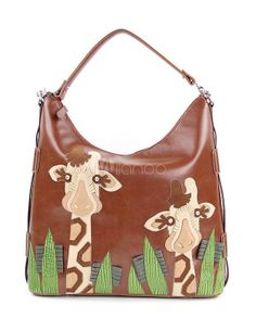 One of the most beautiful and unique handbags you'll ever see! #handbags #giraffes