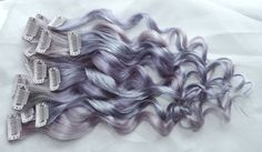 Silver Opal Human Hair Extensions Double Wefted by TheUnicornMane $36 for 4