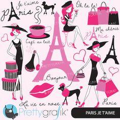 paris fashion clipart for scrapbooking, commercial use, ve