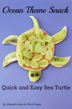 Ocean Theme Snack: Sea Turtles