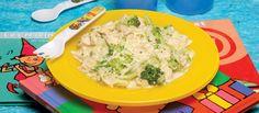Receita de Frango com brócolos e massinhas. Descubra como cozinhar Frango com brócolos e massinhas de maneira prática e deliciosa com a Teleculinaria!