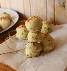 Parsley and chives scone Rachel Allen, Scones, Biscuits, Bakery, Sandwiches, Muffin, Good Food, Sweets, Cooking