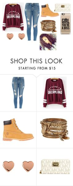"""""""DREAMLAND"""" by zakarriahbunch ❤ liked on Polyvore featuring Frame Denim, Timberland, ALDO, Ted Baker, MICHAEL Michael Kors and Casetify"""