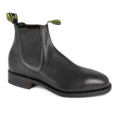 RM Williams Comfort Craftsman Mens Pull On Jodphur Chelsea Boot | Black Leather | Shoes GB