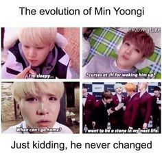 The evolution of Min Yoongi
