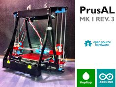 PrusAL modular opensource 3D printer by Rapcraft Team, via Kickstarter.  Rapcraft is a open hardware project that brings user friendly thankfull, high quality, low cost 3D printing solution to all individuals, institutions and companies that want to use 3D rapid protytyping and make many usefull things!