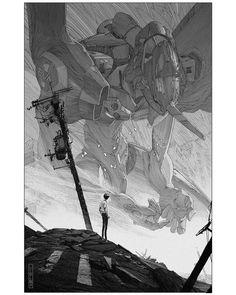 Neon Genesis Evangelion Shinji and Unit 01 by Evan Cagle Neon Genesis Evangelion, Manga Art, Manga Anime, Anime Art, Evangelion Shinji, Fanarts Anime, Animes Wallpapers, Cyberpunk, Comic Art