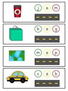 blending CVC words...great tactile approach using a toy car stopping on each sound and then blending them together!