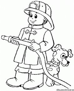 Firefighter Coloring Pages For Preschoolers. Fire Department - Fire Engine Coloring Pages. When it burns, it roars with sirens and blue lights - the fire department. The brave firefighters pull t.