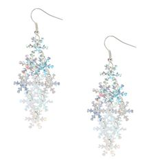 Holographic Snow Flake Earrings