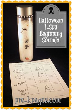 Free Halloween I Spy Beginning Sound Printable via www.pre-kpages.com
