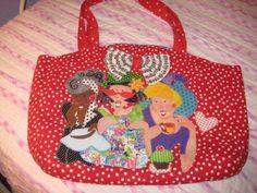 Hand Painted Bags Ladies Bags Handbag Red by MaterialGirl338