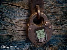 """A União da tecnologia com o """"Vintage"""" Interessante este cadeado digital."""