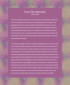 A meaningful alternative as a wedding reading excerpted from The Alchemist by Brazilian writer, Paulo Coehlo. Wedding Poems, Our Wedding, Trendy Wedding, Wedding Blog, Book Quotes, Me Quotes, Famous Quotes, The Alchemist Paulo Coelho, Alchemist Quotes