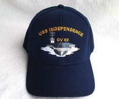 USS INDEPENDENCE CV-62 (BLUE) Military Veteran US NAVY CARRIER Hat  #BaseballCap