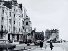TRANSITION IN KINGS ROAD 1963 Brighton Demolition of the block of old shops, 67-86 Kings Road, between West Street and Russell Street, April – June 1963.