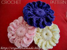 2 PDFs: 15-Petal-Flower and 8-Petal-Flower Crochet Pattern