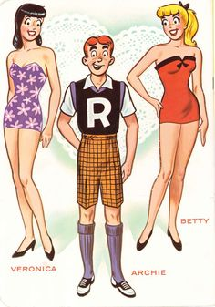 Archie's Girls.  Betty and Veronica paperdolls * 1500 paper dolls at…