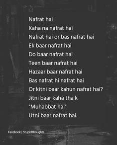 Han nafrat hai Mohabbat kai nam Sai hi Shyari Quotes, Diary Quotes, Hurt Quotes, Good Life Quotes, Crush Quotes, Mood Quotes, Funny Quotes, Hindi Quotes, Qoutes