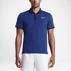 Nike Roger Federer RF Advantage Mens Tennis Polo L Deep Royal Blue 729281 455 #Nike #ShirtsTops