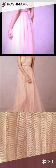 🌟🔥SALE🌟BHLDN bridesmaids dress soft pink size 8 Beautiful bridesmaids dress in a soft pink . Purchased in the Beverly Hills flagship store and worn once. No visible signs of wear. Strap on dress can be worn as belt or brought up to create a halter neck style. The belt featured in picture is NOT included. Just had it dry cleaned no garment bag but will take great of protecting the dress so it arrives in mint condition. bhldn Dresses Wedding