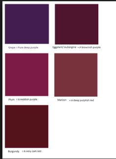 Navy blue vs cobalt blue google search mulberry plum - Burgundy and blue color scheme ...